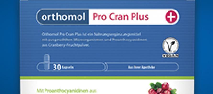 Orthomol Pro Cran Plus – профилактика и защита мочевыводящих путей